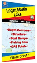 Logan Martin Reservoir Fishing Map by Fishing Hot Spots