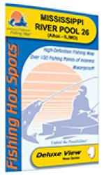 Mississippi River-Pool 26 (Alton - IL/MO) Fishing Map by Fishing Hot Spots