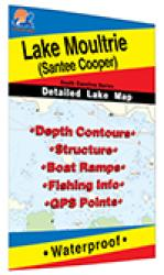Lake Moultrie Fishing Map (Santee Cooper) by Fishing Hot Spots