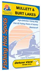 Mullett & Burt Lakes Fishing Map by Fishing Hot Spots