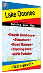 Lake Oconee Fishing Map by Fishing Hot Spots