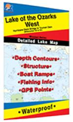 Lake of the Ozarks-West (Truman Dam to Hurricane Deck Bridge) Fishing Map by Fishing Hot Spots