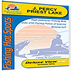 J. Percy Priest Lake Fishing Map by Fishing Hot Spots