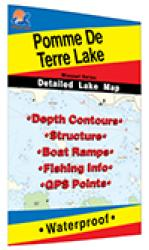 Pomme de Terre Lake Fishing Map by Fishing Hot Spots