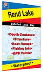 Rend Lake Fishing Map by Fishing Hot Spots