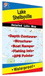 Lake Shelbyville Fishing Map by Fishing Hot Spots