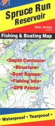 Spruce Run Reservoir Fishing Map by Fishing Hot Spots