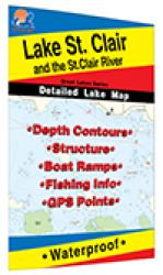 Lake St. Clair/St. Clair River Fishing Map (MI/ONT) by Fishing Hot Spots