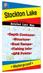 Stockton Lake Fishing Map by Fishing Hot Spots