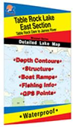 Table Rock Lake-East (Table Rock Dam to James River) Fishing Map by Fishing Hot Spots