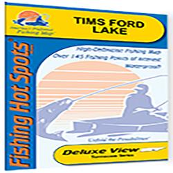 Tims Ford Lake Fishing Map by Fishing Hot Spots