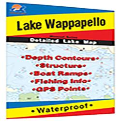 Lake Wappapello Fishing Map by Fishing Hot Spots