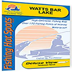 Watts Bar Lake Fishing Map by Fishing Hot Spots