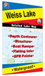 Weiss Lake Fishing Map by Fishing Hot Spots