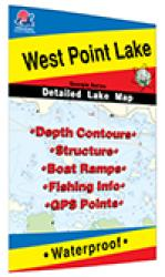 West Point Lake Fishing Map by Fishing Hot Spots