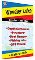 Wheeler Lake Fishing Map by Fishing Hot Spots