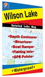 Wilson Lake Fishing Map by Fishing Hot Spots