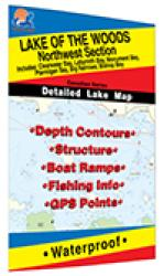 Lake of the Woods Northwest Fishing Map, Lake (incl. Clearwater/Portage Narrows) by Fishing Hot Spots