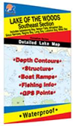 Lake of the Woods Southeast Fishing Map, Lake (incl. Sioux Narrows/Nestor Falls) by Fishing Hot Spots