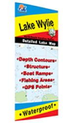 Lake Wylie Fishing Map (NC/SC) by Fishing Hot Spots