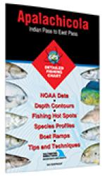 Apalachicola - Indian Pass to East Pass Fishing Map by Fishing Hot Spots