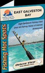 East Galveston Bay Fishing Map by Fishing Hot Spots