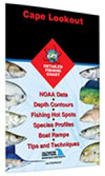 Cape Lookout-Bogue Sound to Drum Inlet Inshore Fishing Map by Fishing Hot Spots