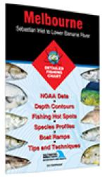 Melbourne - Sebastian Inlet to Lower Banana River Fishing Map by Fishing Hot Spots