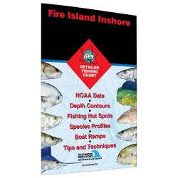Fire Island Inshore-Islip to Hampton Bays Fishing Map by Fishing Hot Spots