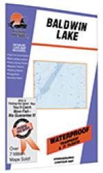 Baldwin Lake Fishing Map by Fishing Hot Spots
