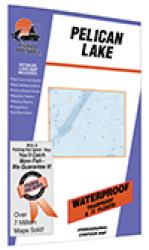 Pelican Lake (Crow Wing Co., near Nisswa) Fishing Map by Fishing Hot Spots