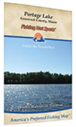 Portage Lake Fishing Map by Fishing Hot Spots