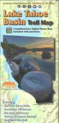 Lake Tahoe Basin Trail Map by Adventure Maps
