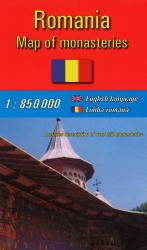 Romanian Monasteries Map by Amco Press