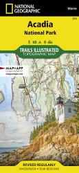 Acadia National Park, Maine topographic map by National Geographic Maps