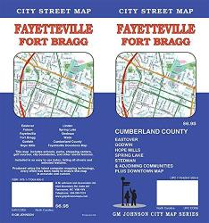 Fayetteville Fort Bragg : City Street Map by GM Johnson