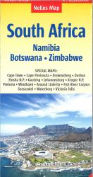 South Africa, Namibia, Zimbabwe, and Botswana road map by Nelles Verlag GmbH
