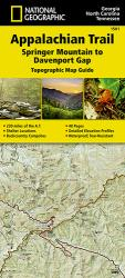 Appalachian Trail Topographic Map Guide, Springer Mountain to Davenport Gap by National Geographic Maps