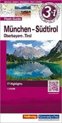 Munich, Southern Tyrol and Upper Bavaria, Flash Guide by Hallwag