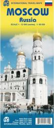 Moscow Russia Travel Map by International Travel Maps