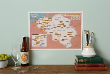 Scratch Off Belgian Beers Map by Maps International Ltd.