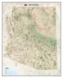 Arizona Wall Map - Laminated (33 x 40.5 inches) by National Geographic Maps