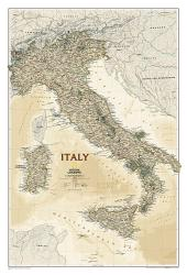 Italy Executive Wall Map (23.25 x 34.25 inches) by National Geographic Maps