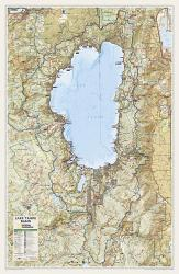 Lake Tahoe Basin Wall Map (26.5 x 40.5 inches) (Tubed) by National Geographic Maps
