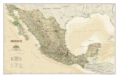 Mexico Executive Wall Map (34.5 x 22.75 inches) by National Geographic Maps