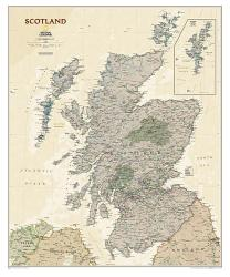 Scotland Executive Wall Map (30 x 36 inches) by National Geographic