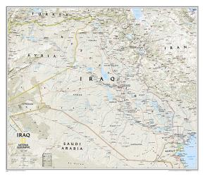 Iraq Classic Wall Map (28.25 x 24.25 inches) (Tubed) by National Geographic Maps