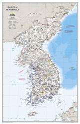 Korean Peninsula Classic Wall Map (23.25 x 35.75 inches) by National Geographic Maps