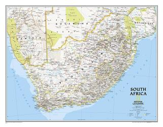 South Africa Classic Wall Map (30.25 x 23.5 inches) by National Geographic