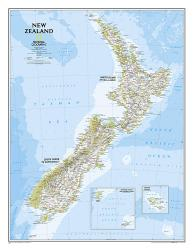 New Zealand Classic Wall Map (23.5 x 30.25 inches) (Tubed) by National Geographic Maps